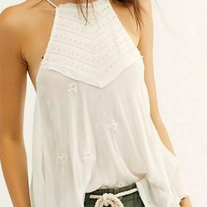 Nw Free People Sultry Nights Embellished Tunic Top